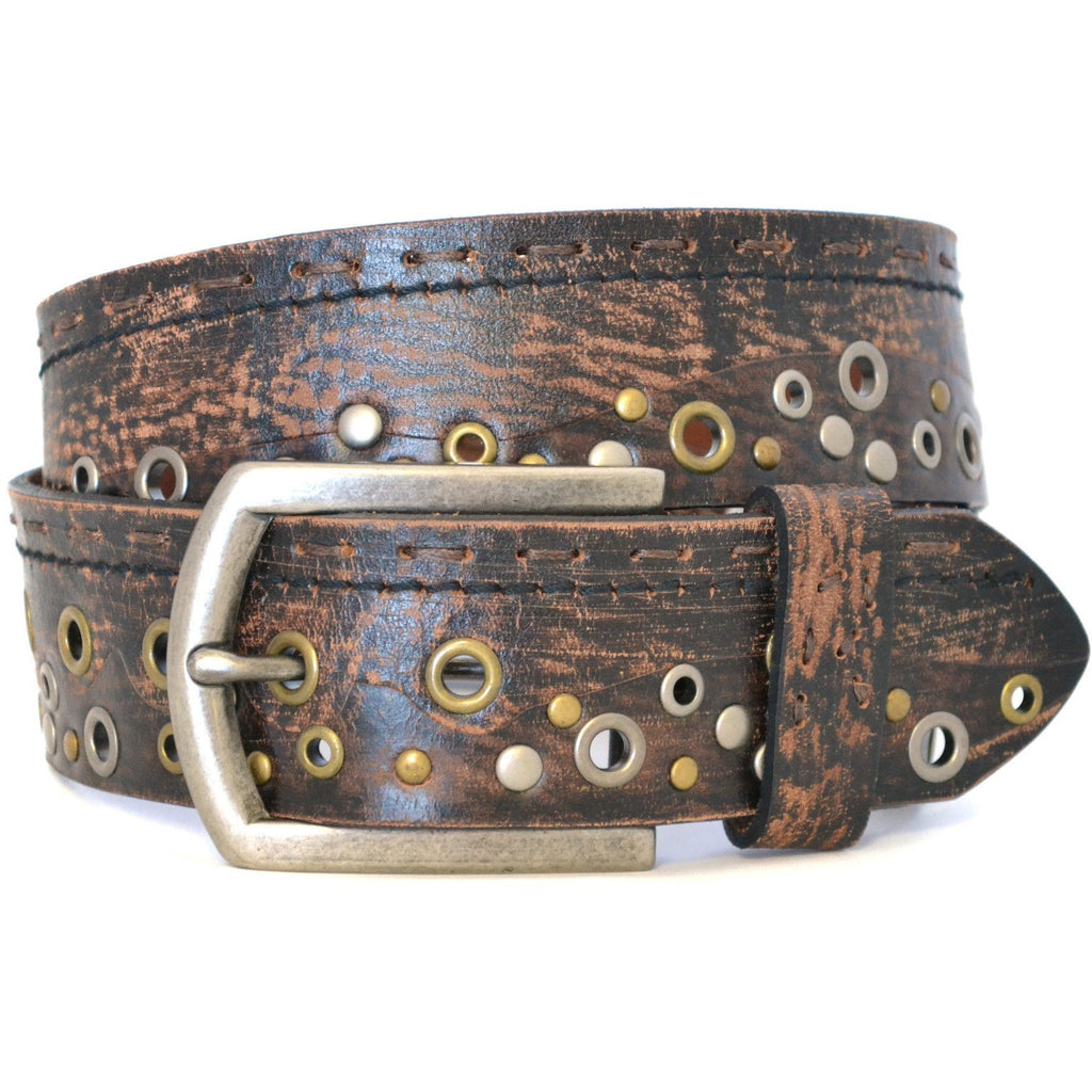 LARS - Mens Brown Leather Belt - CLEARANCE  - Belt N Bags