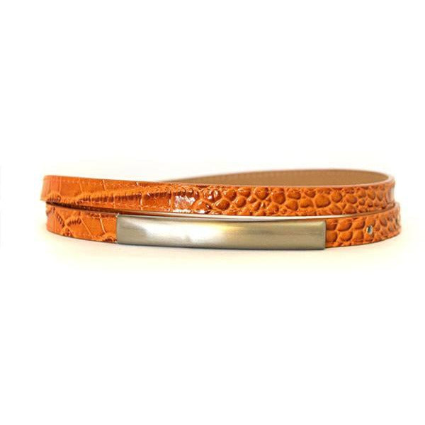 LAURA - Womens Orange Leather Belt - CLEARANCE  - Belt N Bags