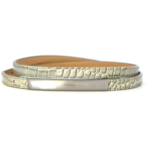 LAURA - Womens Sage Leather Belt - BeltNBags