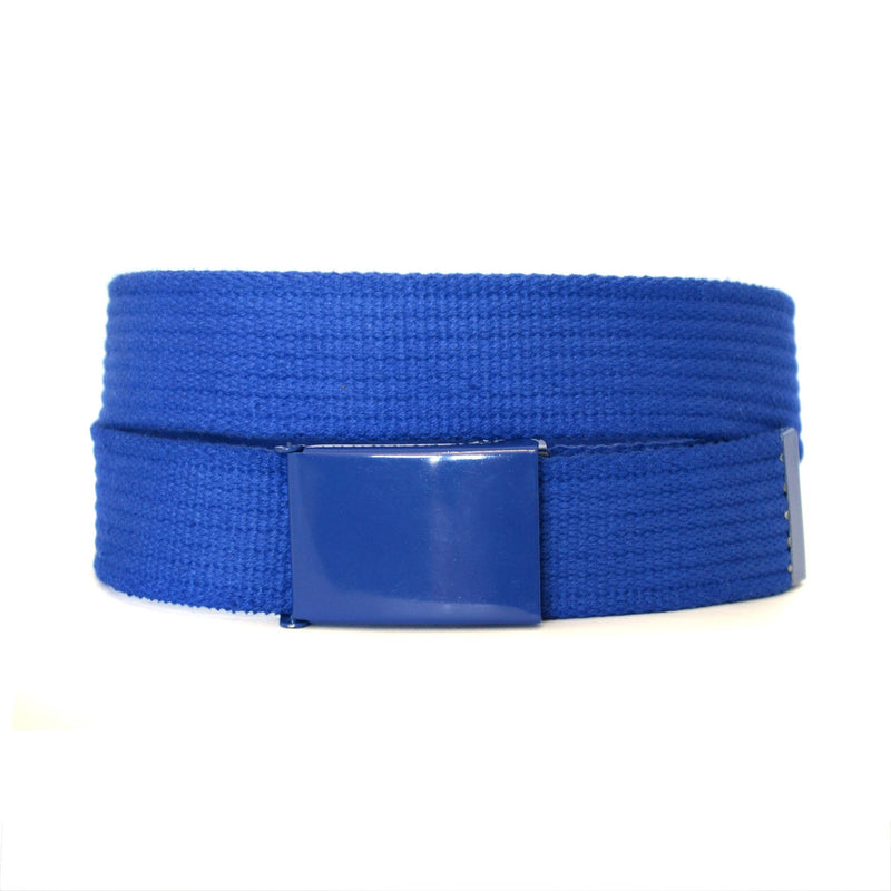 LEE - Mens Cobalt Blue Canvas Belt - BeltNBags