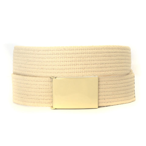 LEE - Mens Cream Canvas Belt