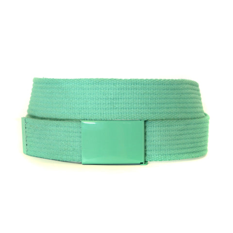 LEE - Mens Green Canvas Belt