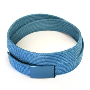 LEE - Mens Sky Blue Canvas Webbing Belt  - Belt N Bags