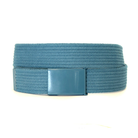 LEE - Mens Sky Blue Canvas Belt