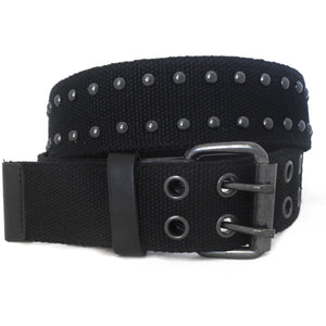 LEYLAND - Mens Black Canvas Belt - BeltNBags