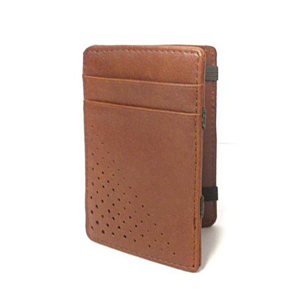LINCOLN -  Mens Tan Light Flip Faux Leather Magic Wallet - BeltNBags