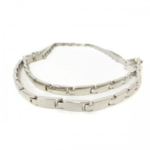 LIZZY - Womens Silver Metal Chain Belt - CLEARANCE  - Belt N Bags
