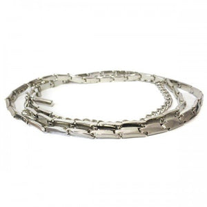 LIZ - Womens Silver Chain Belt-Womens Belt-BeltNBags-One Size Fits Most-BeltNBags