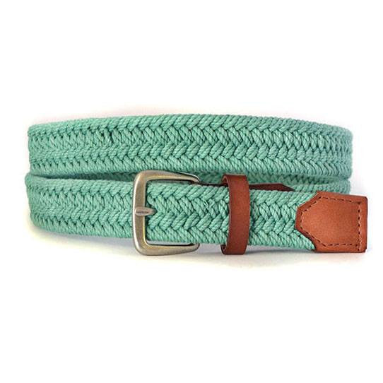LOCK - Casual Green Cotton Webbing Belt - BeltNBags