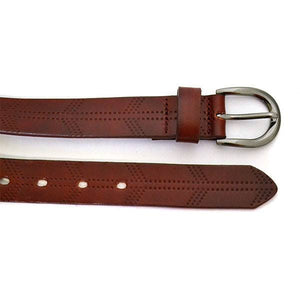 LOLA - Womens Burgundy Leather Belt - BeltNBags