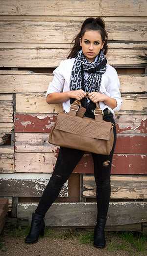 LEWISHAM - Womens Coffee Genuine Leather Bag