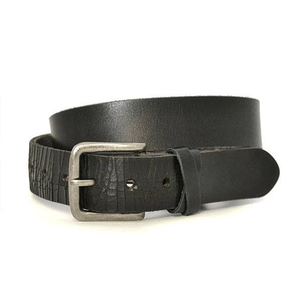 LLOYD - Mens Black Leather Belt - BeltNBags