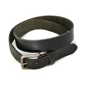 LLOYD - Mens Black Leather Belt  - Belt N Bags