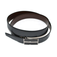 LOUIS - Mens Black and Brown Reversible Leather Belt