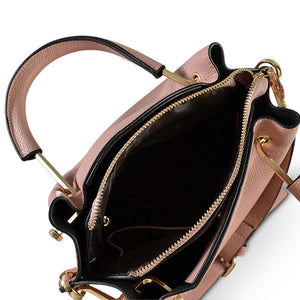 Lucy Blush Vegan Pebbled Leather Soft Handle Bag  - Belt N Bags