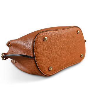 Lucy Tan Vegan Pebbled Leather Soft Handle Slouch Bag  - Belt N Bags