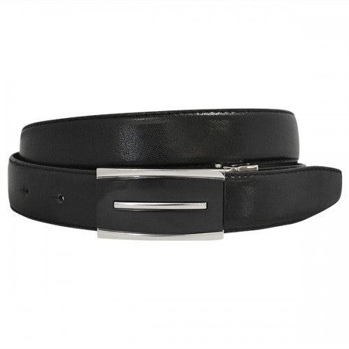MALCOLM - Mens Black & Chocolate Reversible Genuine Leather Belt - BeltNBags