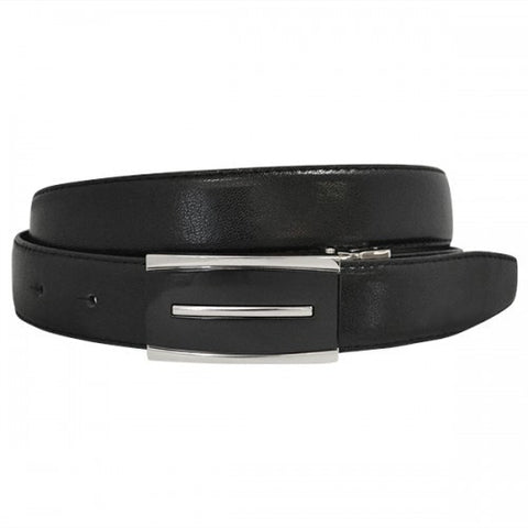 MALCOLM - Mens Black & Chocolate Reversible Genuine Leather Belt