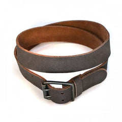 MARCELLO - Mens Brown Suede Leather Belt