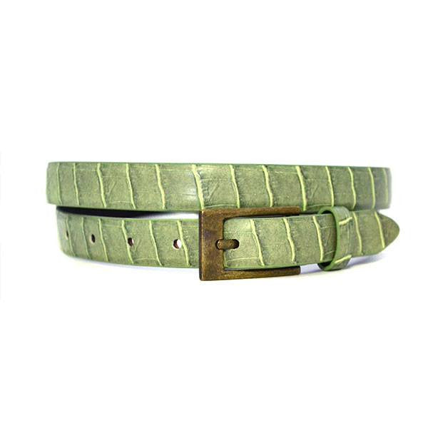 MARISSA - Womens Olive Green Leather Belt - CLEARANCE  - Belt N Bags