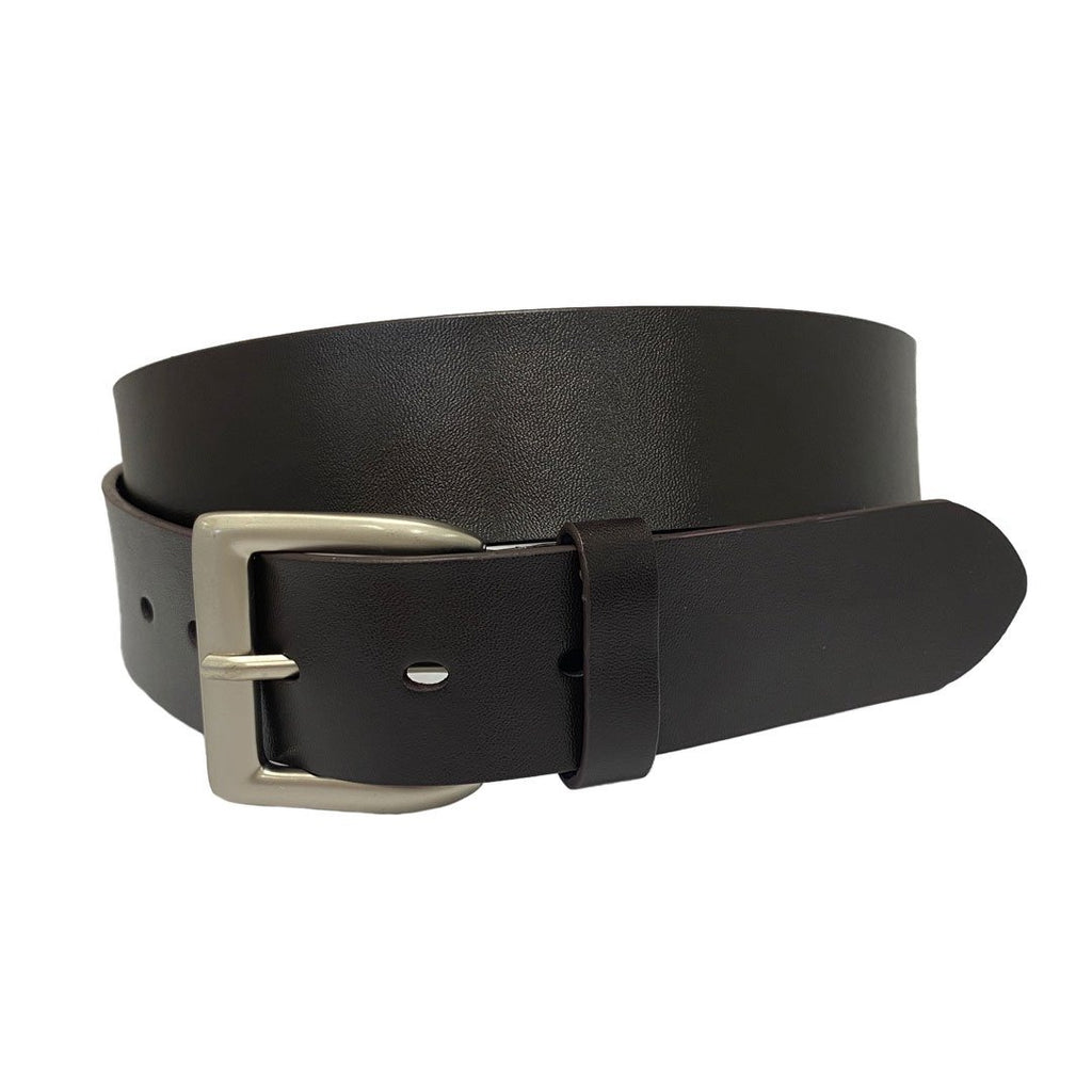 MARK - Men's Chocolate Brown Genuine Leather Belt