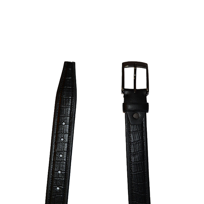 MARLON - Mens Black Genuine Leather Belt