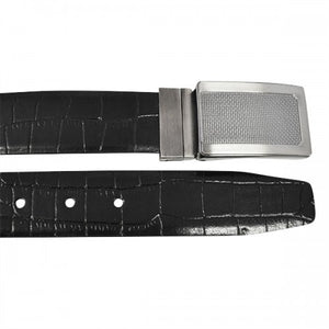 MAXWELL - Mens Black Genuine Leather Reversible Belt  - Belt N Bags