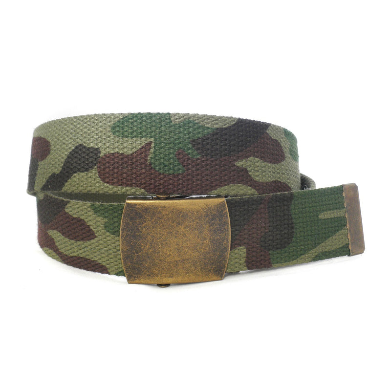 MONTY - Mens Khaki Canvas Belt-Mens Belt-BeltNBags-One Size Fits Most-BeltNBags