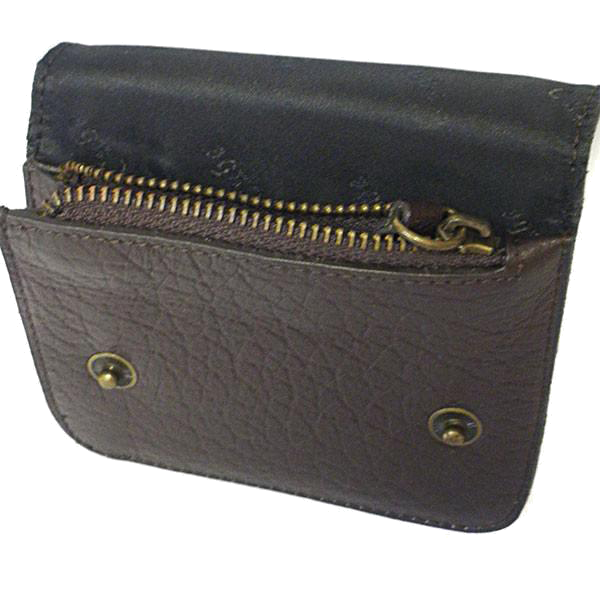 MORRIS - Men's Brown Genuine Leather Flip Wallet with Zip Pocket - BeltNBags