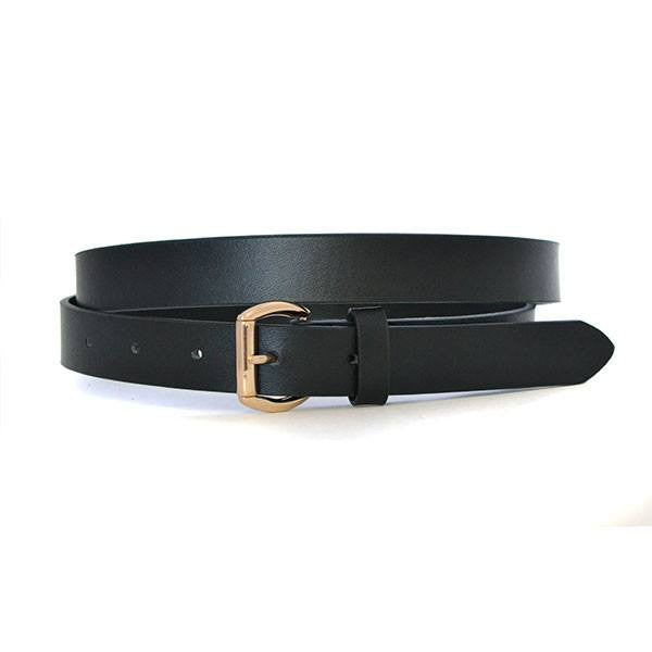 MYRA - Womens Black Genuine Leather Belt - BeltNBags