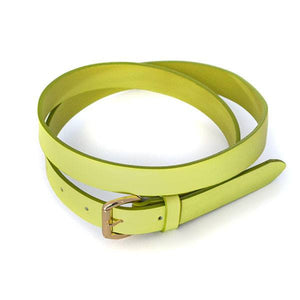 MYRA - Womens Green Genuine Leather Belt - BeltNBags
