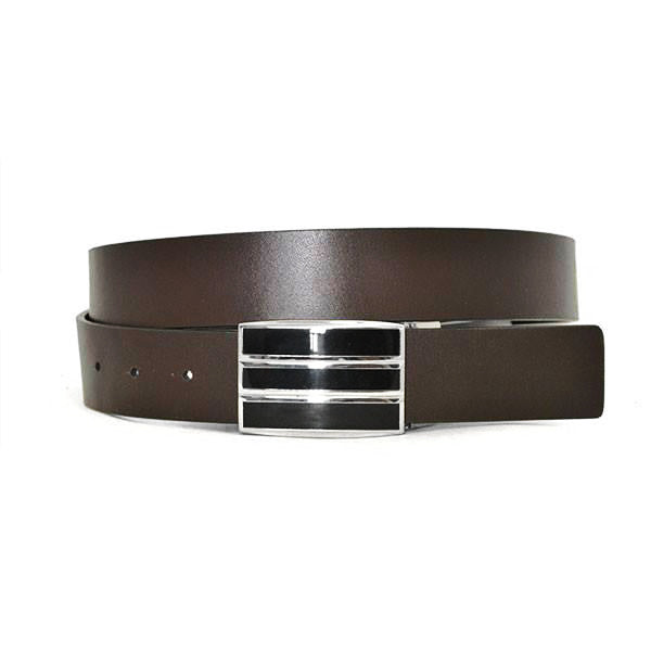 MADDOX - Mens Black and Brown Leather Belt