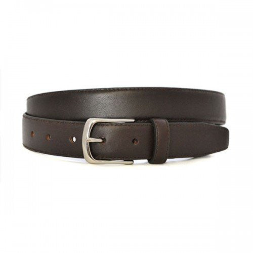 MARVIN - Mens Brown Leather Dress Belt  - Belt N Bags