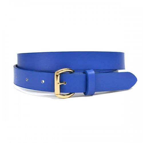 MYRA - Womens Blue Genuine Leather Belt