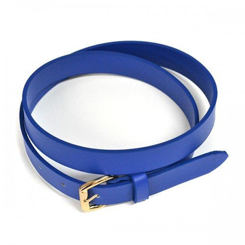 MYRA - Womens Blue Genuine Leather Belt - BeltNBags