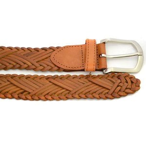 NELSON - Mens Tan Genuine Leather Belt-Mens Belt-BeltNBags-BeltNBags
