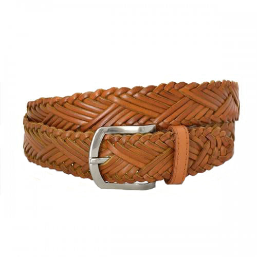 NELSON - Mens Tan Genuine Leather Belt  - Belt N Bags