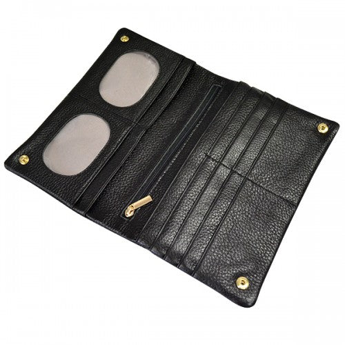 NEWPORT - Ladies Black Genuine Leather Wallet