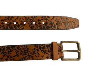 NERRIGA -   Tan Genuine Leather Belt  - Belt N Bags