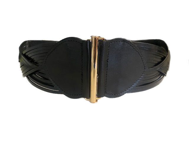 ELIZABETH - Black Genuine Leather Belt  - Belt N Bags