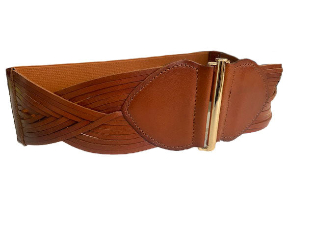 ELIZABETH - Tan Genuine Leather Belt  - Belt N Bags