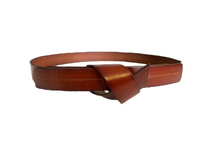 ALEXANDRIA - Tan Genuine Leather Belt  - Belt N Bags