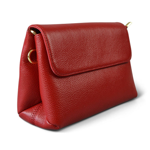 NAMBUCCA - Red Genuine Leather Cross body Bag