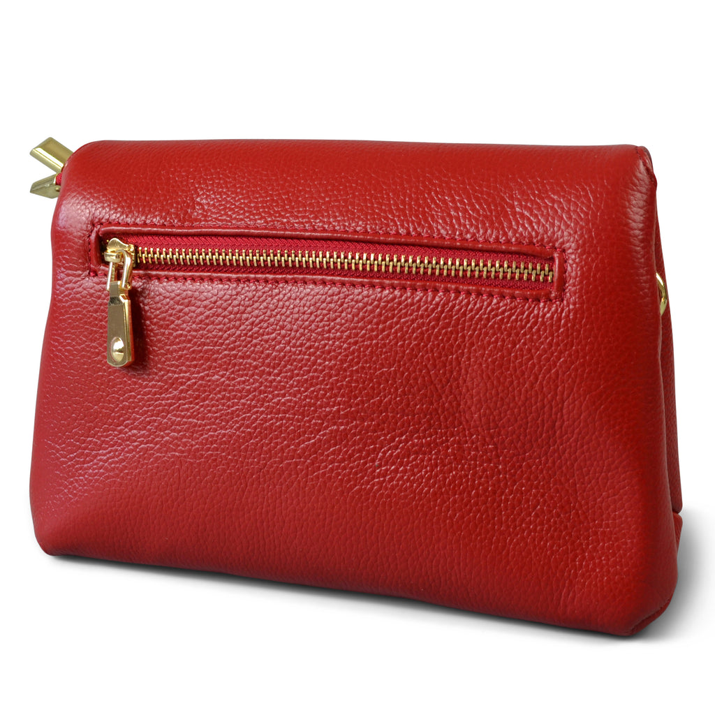NAMBUCCA - Addison Road - Red Genuine Leather Crossbody Bag-Womens Bag-Addison Road-BeltNBags