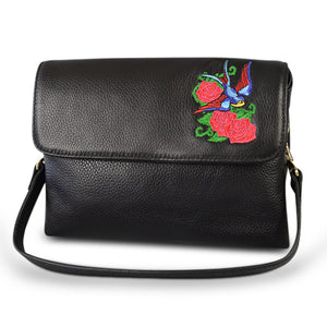 NAMBUCCA - Addison Road- Black Genuine Leather Cross body Bag-Womens Bag-Addison Road-BeltNBags