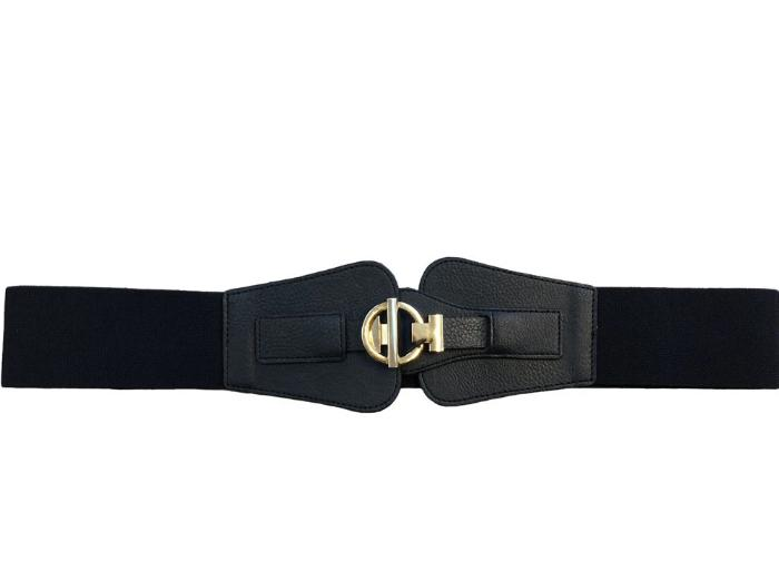 KERRY - Womens Black Elastic Stretch Waist Belt - CLEARANCE  - Belt N Bags