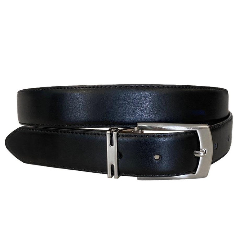 CHRISTIAN - Men's Black Genuine Leather Belt  - Belt N Bags