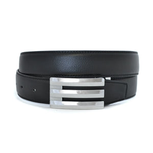 OAKES - Mens Black Reversible Leather Belt - BeltNBags