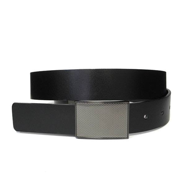 OHIO - Mens Black and Brown Bonded Leather Belt - BeltNBags
