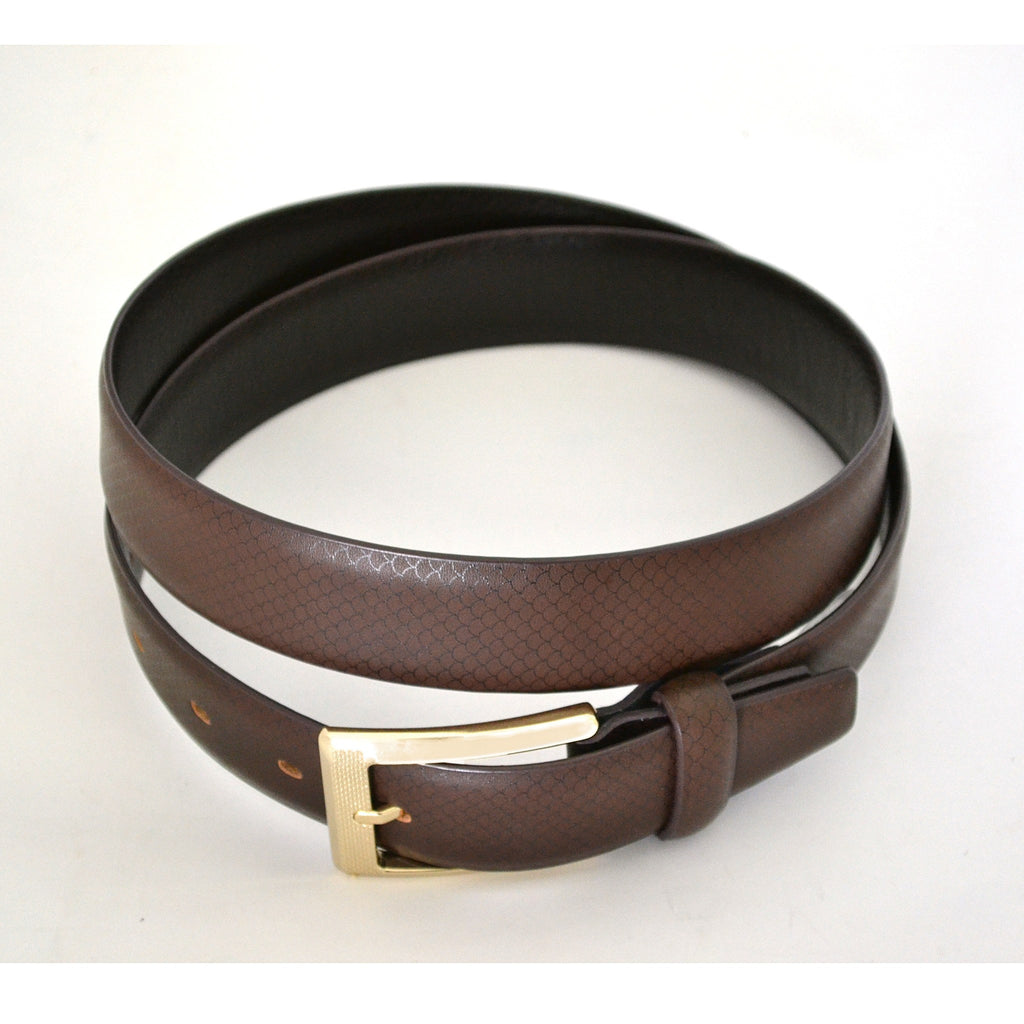 ORLANDO - Mens Brown Leather Belt - BeltNBags